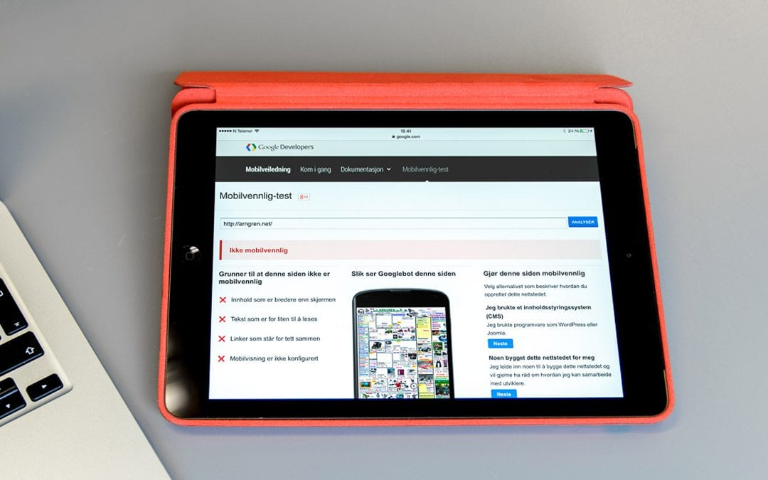 Google gir mobilvennlige sider fortrinn