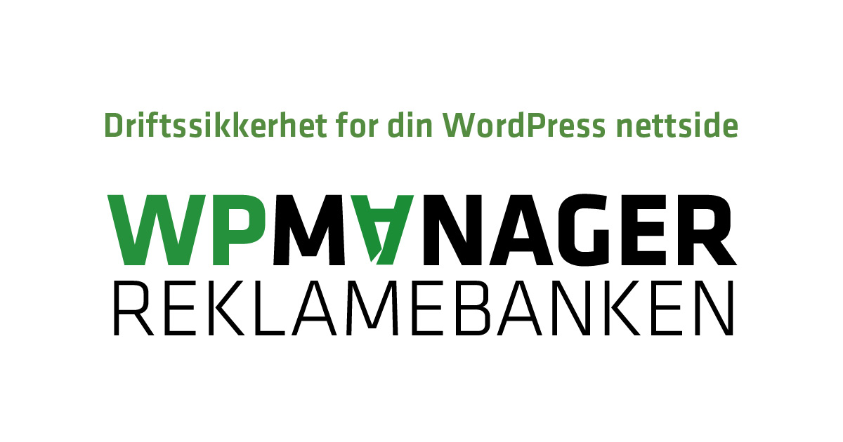 WPmanager – driftssikkerhet for din WordPress nettside