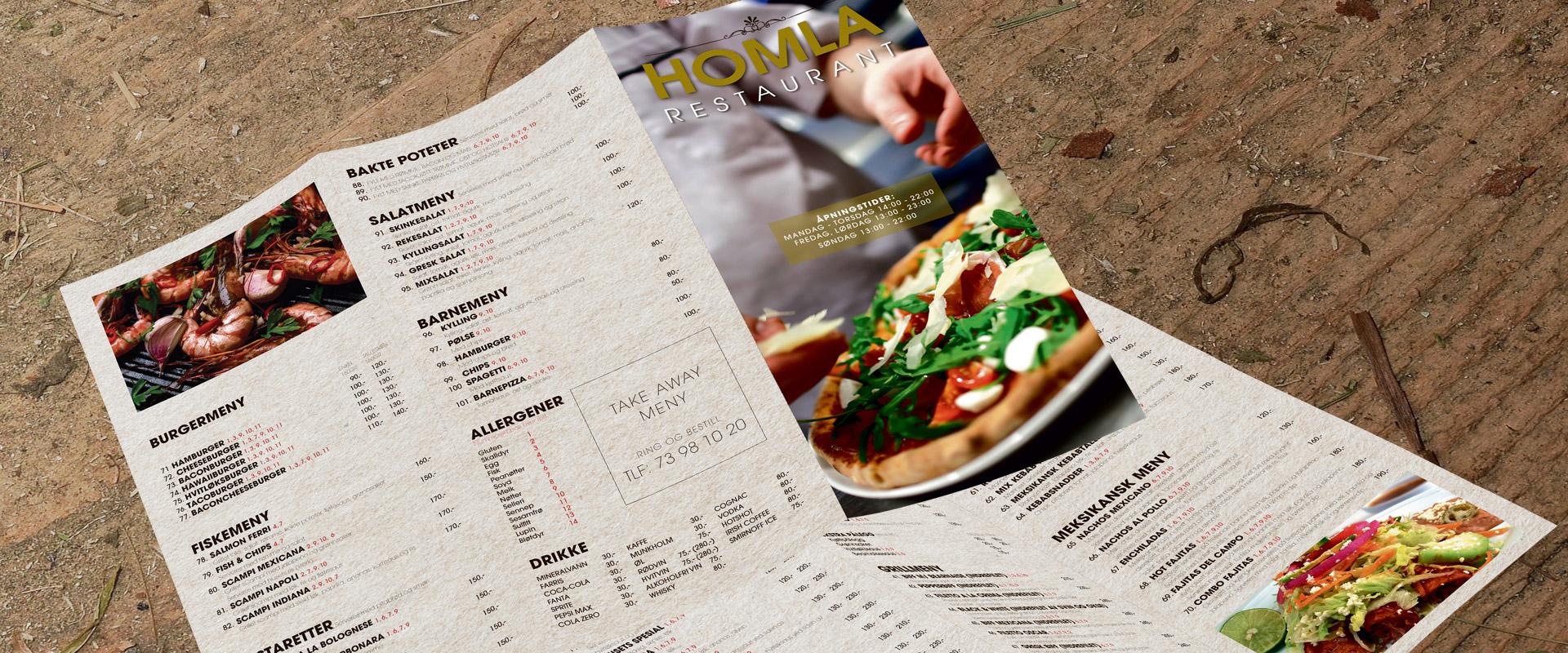 Restaurantmeny Holma Restaurant