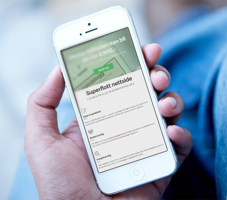 Mobilvennlig nettside for sjekkdenne.no