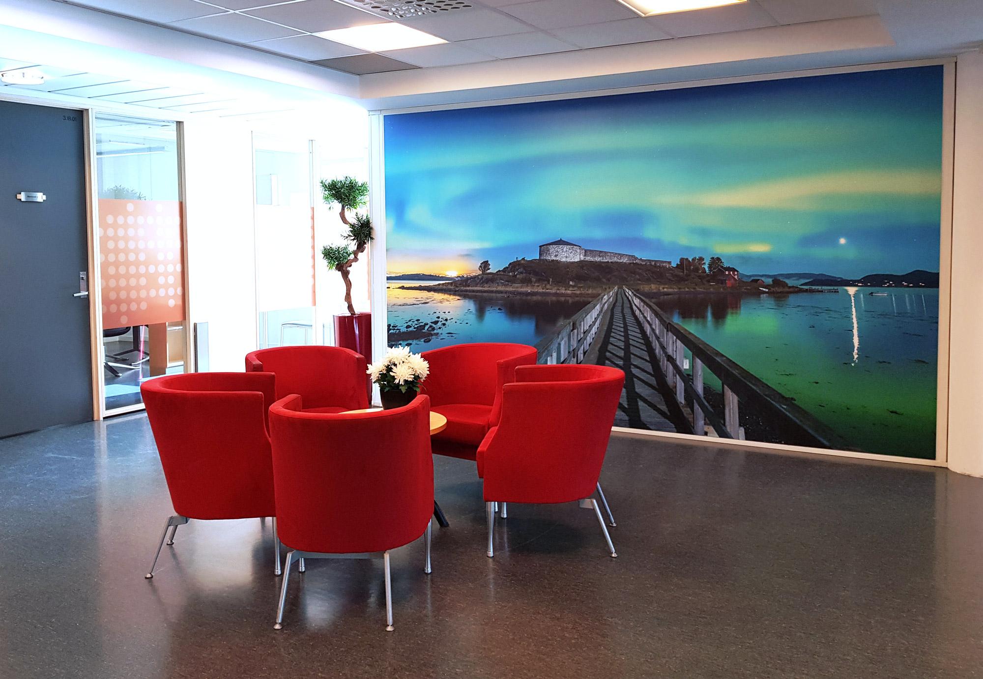 Helse Midt-Norge har fått heldekkende bilde på veggen