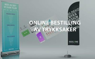 Vi lanserer online trykksaksbestilling
