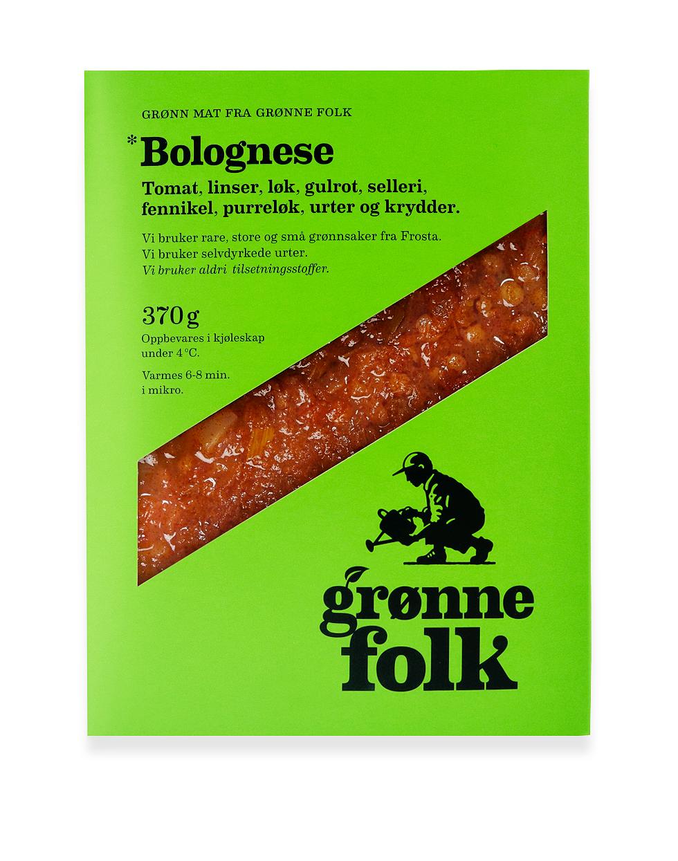 Grønne Folk: Bolognese